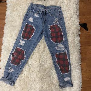 Custom Carmar flannel jeans size 27